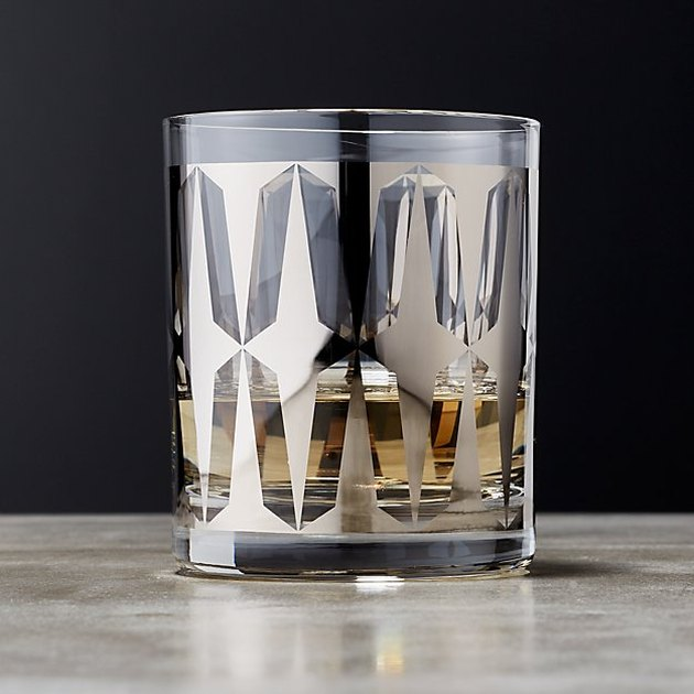 metallic old-fashioned glass