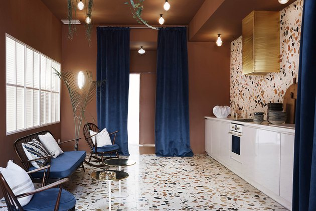 terrazzo kitchen floors and walls