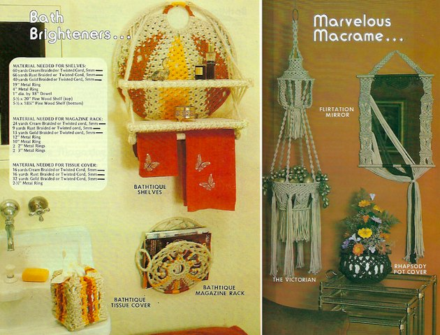 "Vintage ""Macramé for Everyday Living"" pattern book."