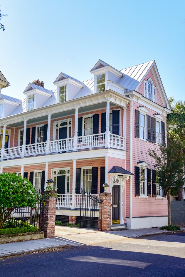 Pink exterior house colors