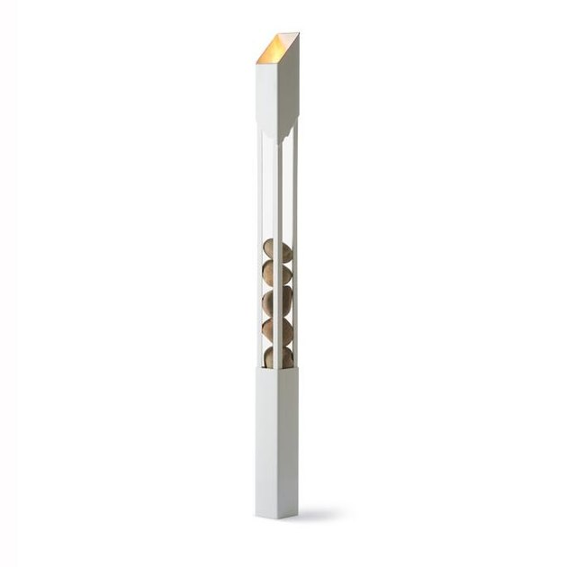 white outdoor garden torch