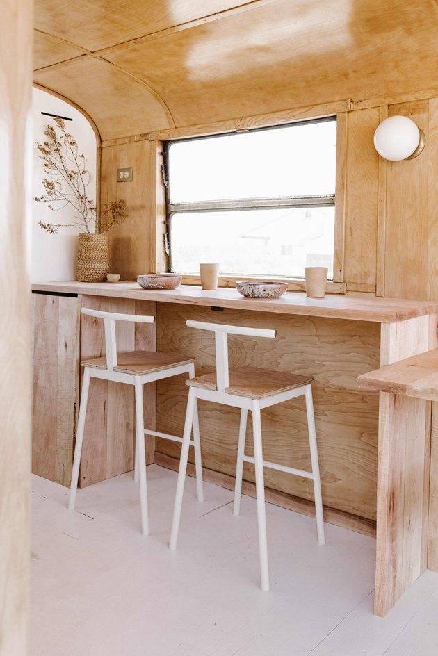 Custom designed bar stools.