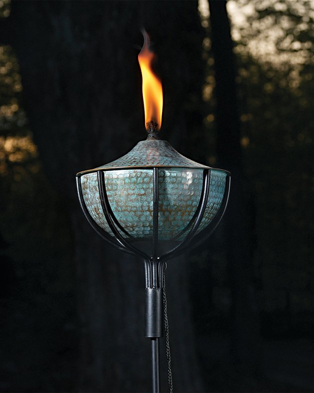 copper patina garden torch