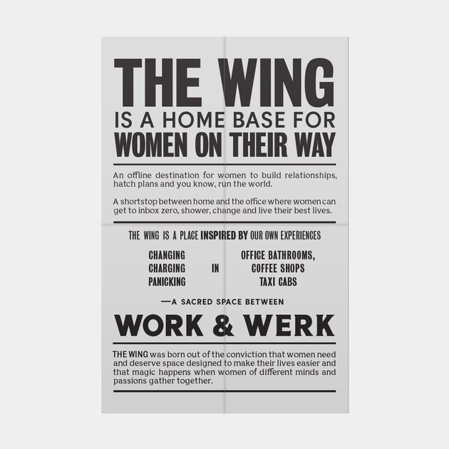 The Wing Broadsheet Poster