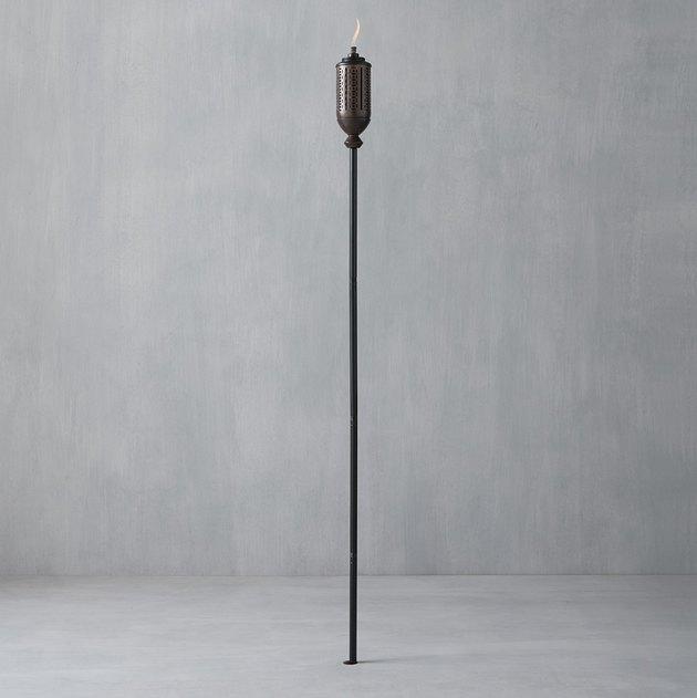 outdoor metal torch