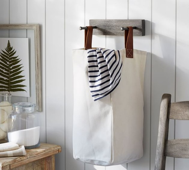 Pottery Barn Lombard Laundry Bag and Holder, $56