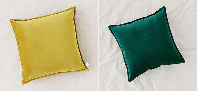 Urban Outfitters Velvet Throw Pillows