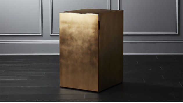 CB2 Gold File Cabinet