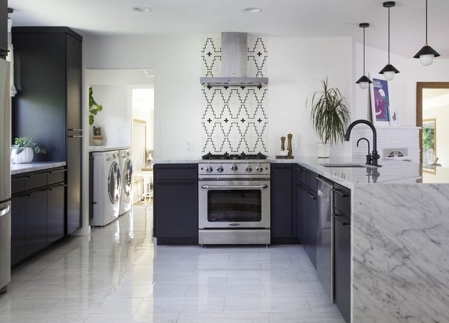 modern kitchen backsplash with global inspired-tile