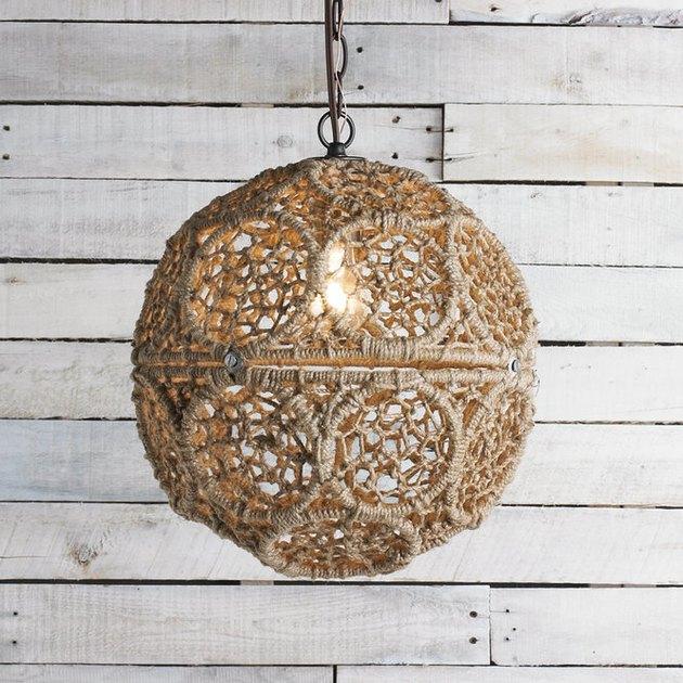 Shades of Light Macrame Jute Sphere Pendant