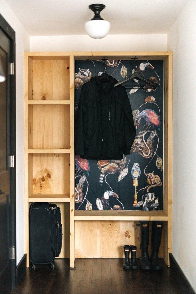 open closet storage