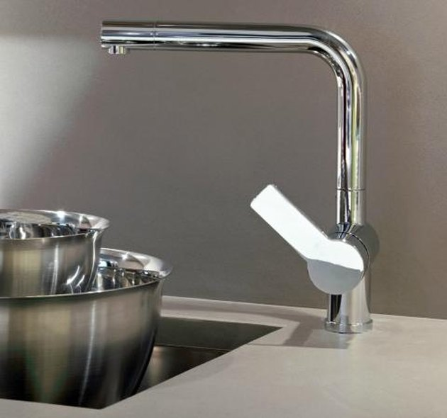 Side mounted kitchen faucet.