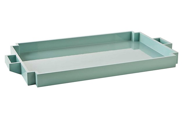 art deco aqua color tray