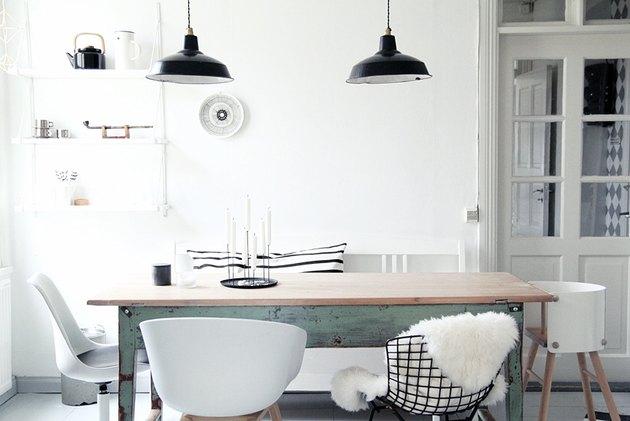 Scandinavian dining room industrial