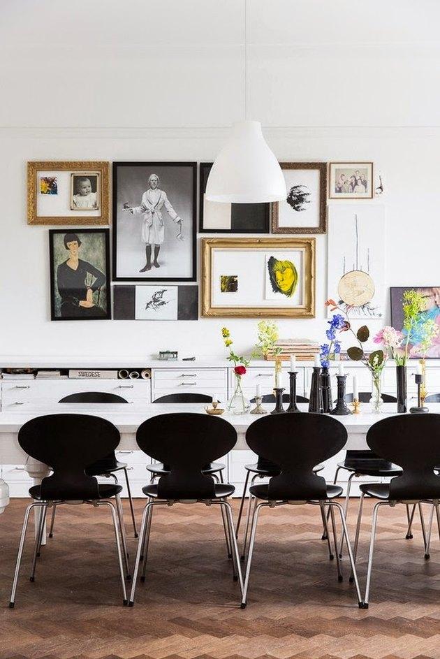 Scandinavian dining room candlesticks