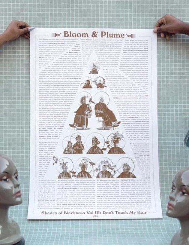 """Bloom & Plume """"Shades of Blackness"""" Poster, $45"""