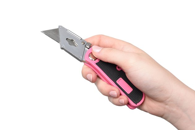 Pink utility knife.