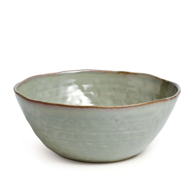 Simon Pearce serving bowl in Moss Green