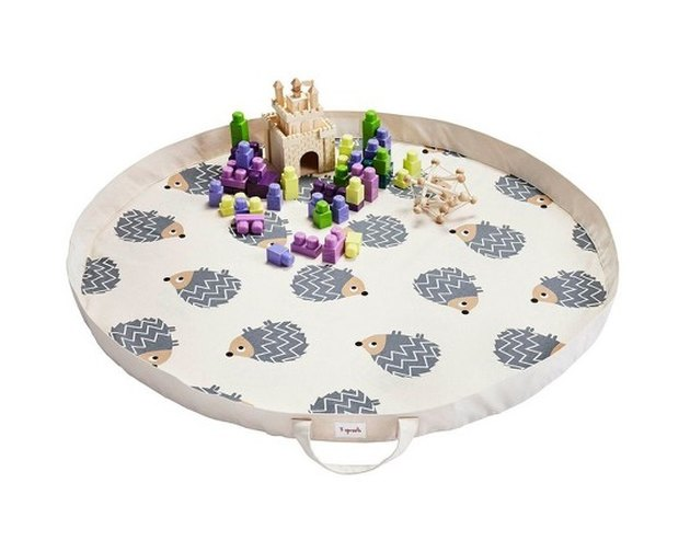 3 Sprouts Hedgehog Play Mat Toy Bag