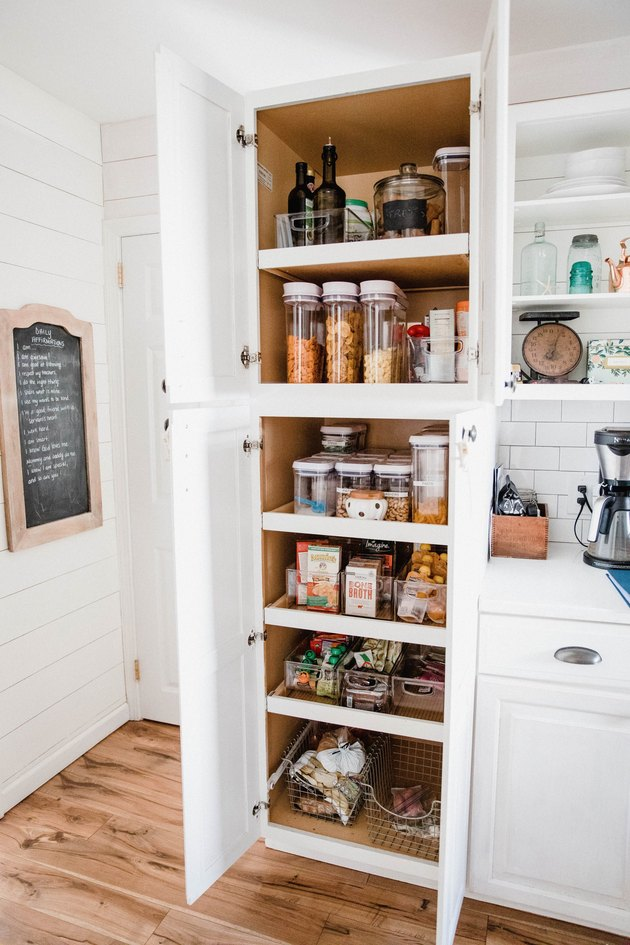 Kitchen pantry storage ideas in small pantry