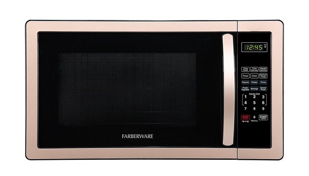 Copper-rimmed microwave