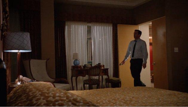 screenshot of midcentury bedroom