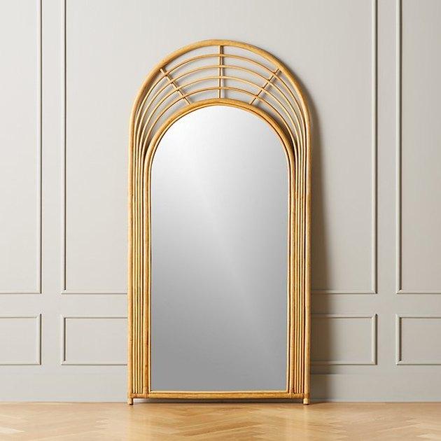 Natural Rattan Floor Mirror, $499