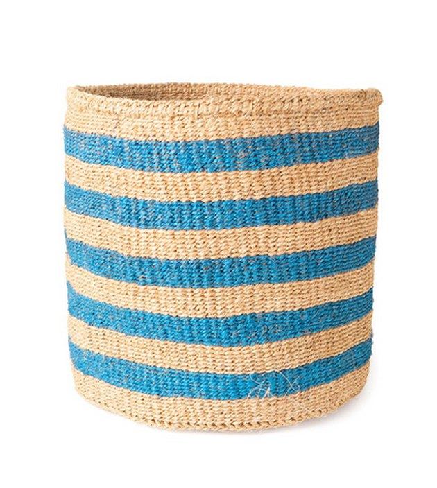 The Little Market Stiped Sisal Basket