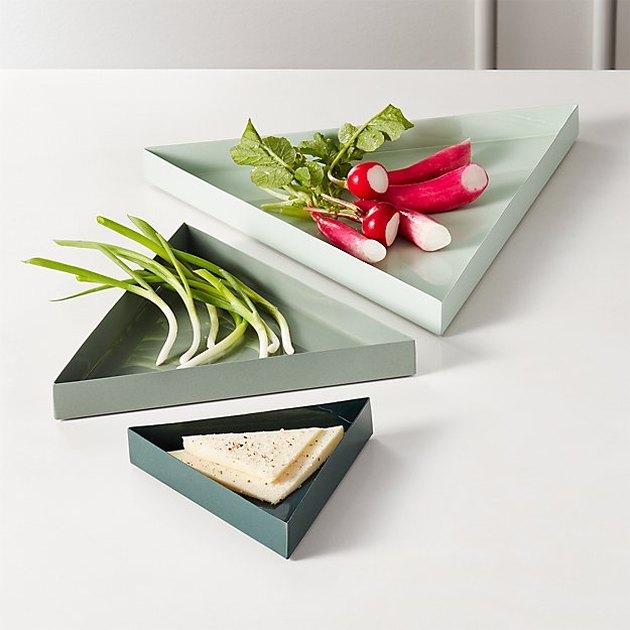 Tier Enamel Platters, $9.95-$16.95