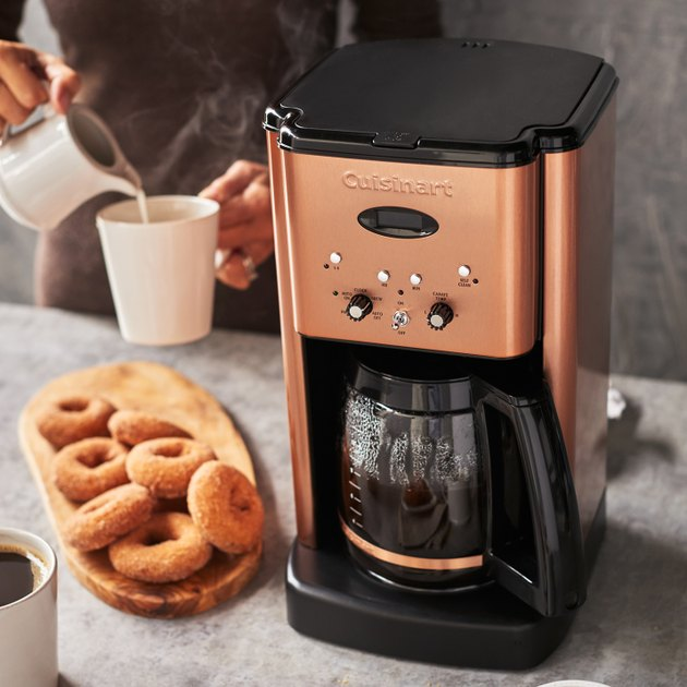 coffee maker on countertop in kitchen