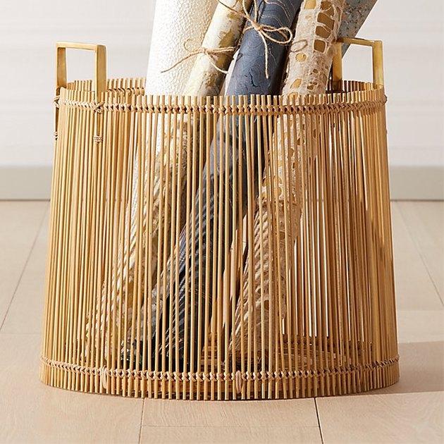 cb2 bamboo basket