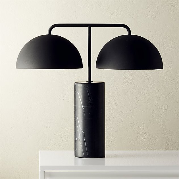 Domes Black Marble Table Lamp, $299