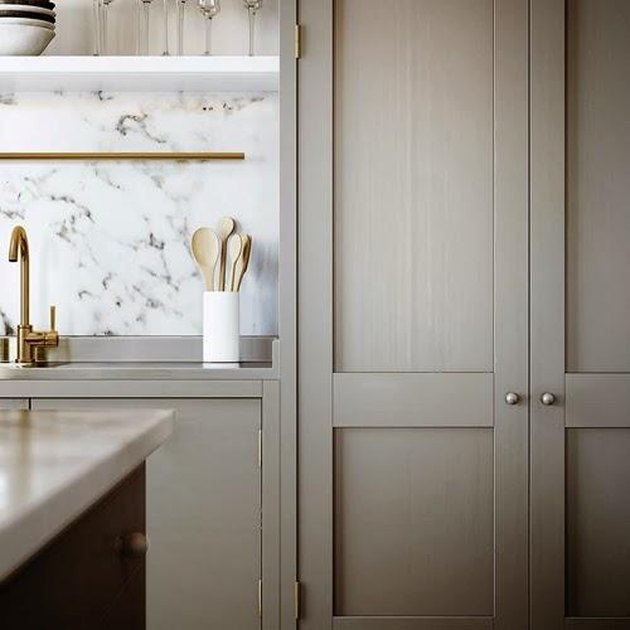 Greige and marble kitchen