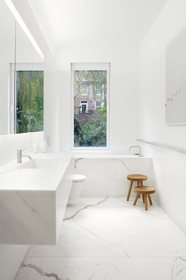 Marble Integrated Floating Sink