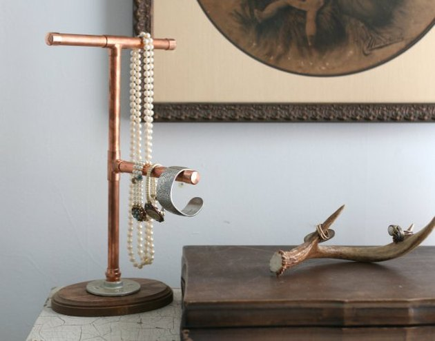 Copper Pipe Jewelry Holder
