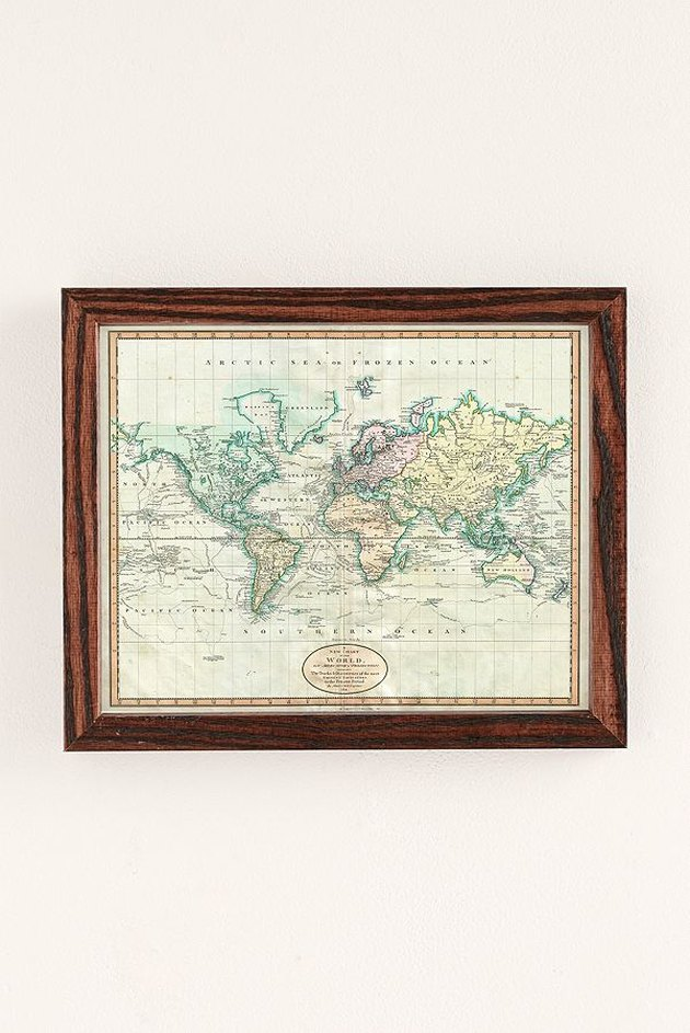 Adam Shaw Vintage World Map