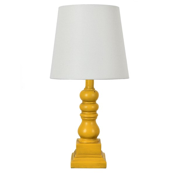 "Conrad 18.5"" Distressed Yellow Resin Table Lamp, $31.48"