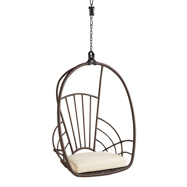 Swingasan hanging rattan chair with ivory cushion