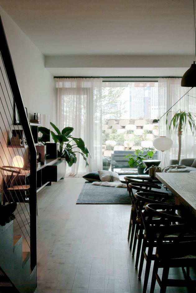 open plan space
