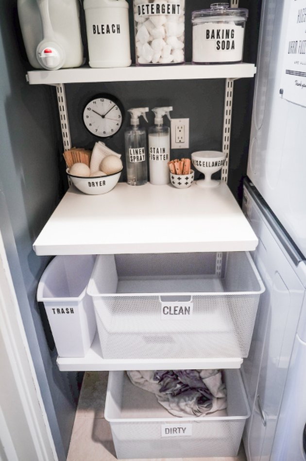 DIY laundry station