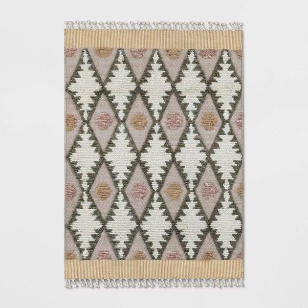 opalhouse meadowsweet diamond tufted rug