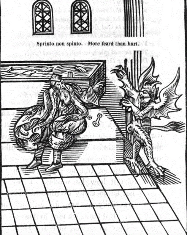 Illustration from A New Discourse of a Stale Subject, called the Metamorphosis of Ajax, 1596.