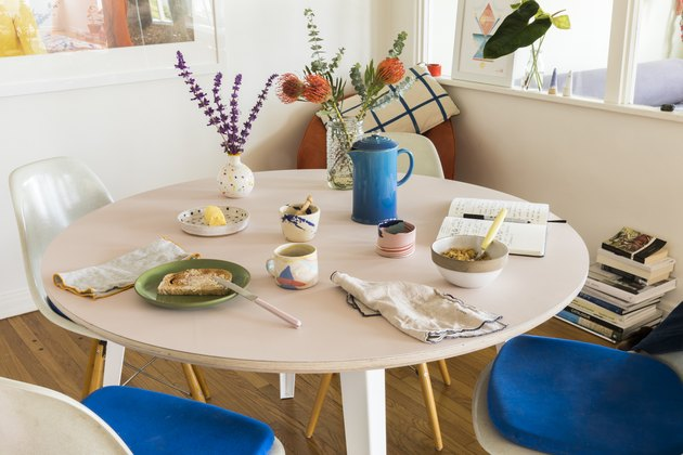 table with kitchenware