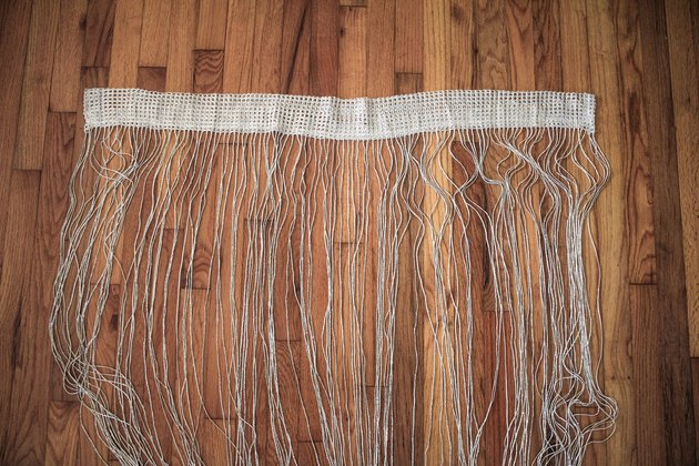 Fringe curtain panel spread out