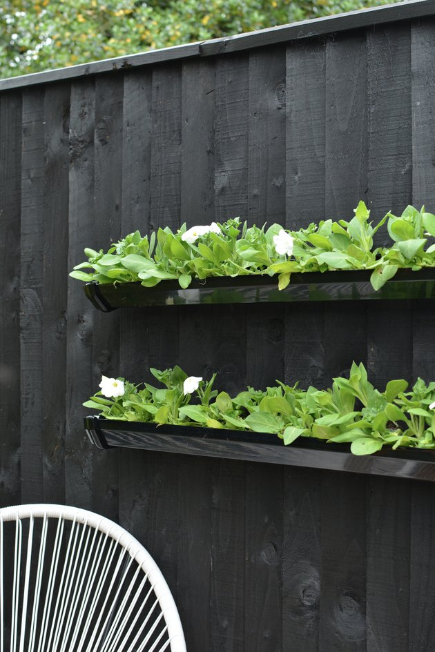 DIY Gutter Pipe Planters