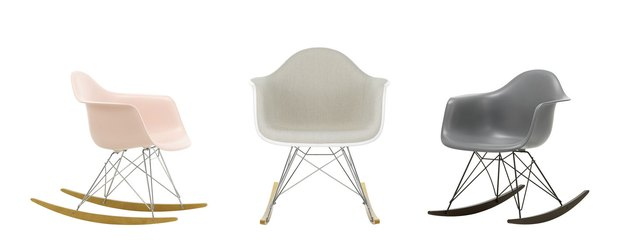 three Eames chairs