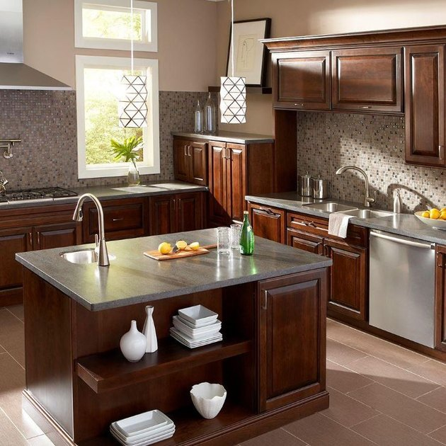 Solid-surface countertop.