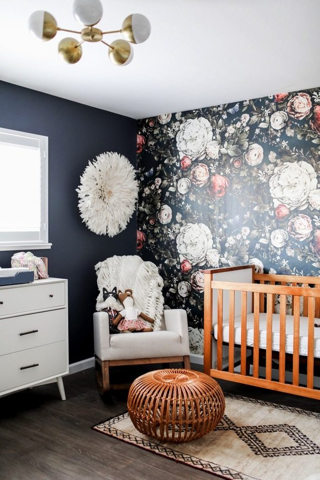 nursery wth dark walls