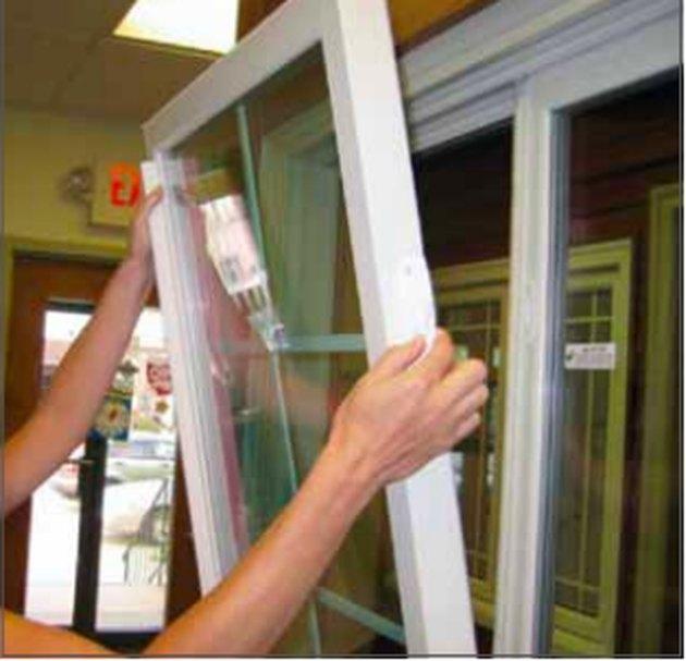 Removing a window sash.