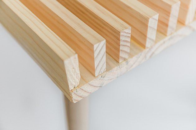 Lay your slats in place on the tabletop.